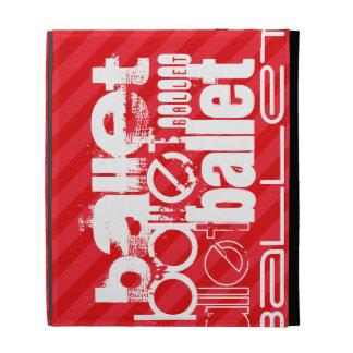 Ballet; Scarlet Red Stripes iPad Folio Cases