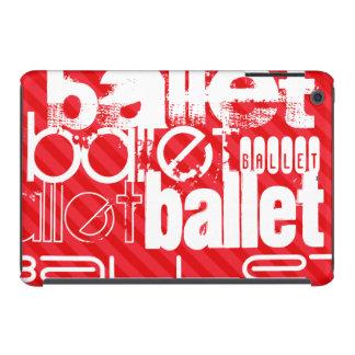 Ballet; Scarlet Red Stripes iPad Mini Retina Case