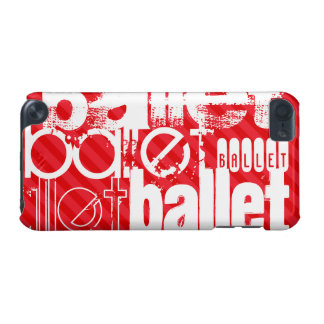 Ballet; Scarlet Red Stripes iPod Touch 5G Covers