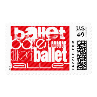 Ballet; Scarlet Red Stripes Stamp