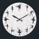 """Ballet School Ballerina Dance Wall Clock<br><div class=""""desc"""">Ballet School Ballerina Dance Wall Clock. Stylish, funny and crazy wall clocks! Classical, bright, glamorous, colorful, cheerful, childish, and witty – the choice of clocks is so varied that everyone can find a well designed and creative clock regardless of their gender or age! Perfect gift for family or friends! See...</div>"""
