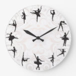 Ballet School Ballerina Dance Wall Clock