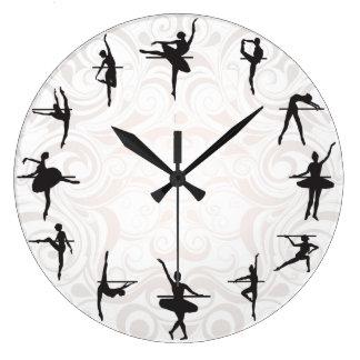 Ballet School Ballerina Dance Wall Clock