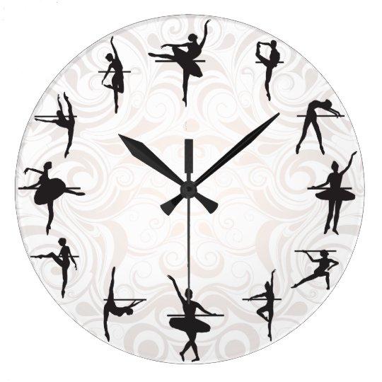 Ballet School Ballerina Dance Wall Clock Zazzle Com
