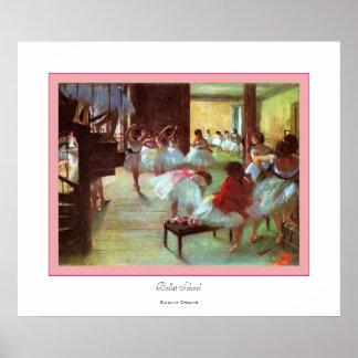 Ballet School~ Edgar Degas Poster