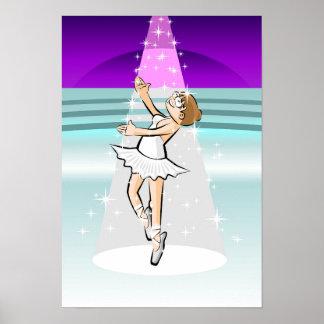 Ballet shoe of Ballet dancing under stars Poster