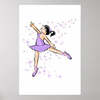 Ballet shoe of Ballet under violet stars Poster