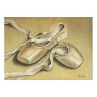 Ballet shoes ACEO prints Large Business Card
