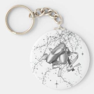 Ballet Shoes Basic Round Button Keychain