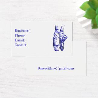 Ballet Shoes Blue Business Card