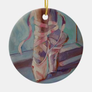 Ballet Shoes Ceramic Ornament