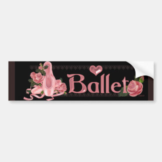 BALLET SHOES DANCE Bumper Sticker