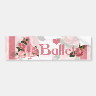 BALLET SHOES DANCE Bumper Sticker 2