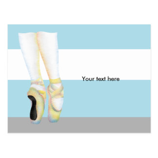 Ballet Shoes en pointe on point Postcard