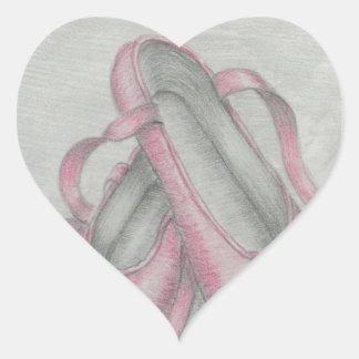 ballet shoes heart sticker