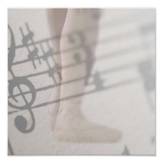 ballet shoes musical notes posters