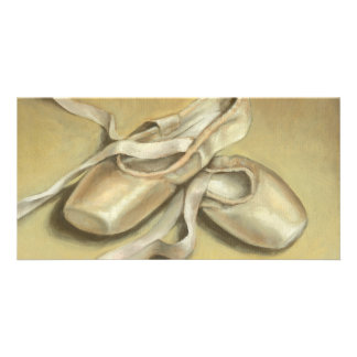 Ballet shoes photo card