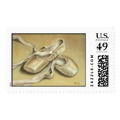 Ballet shoes stamp