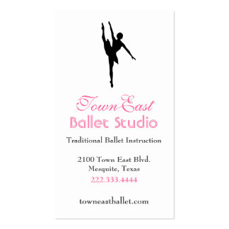 Ballet Silhouette Business Card