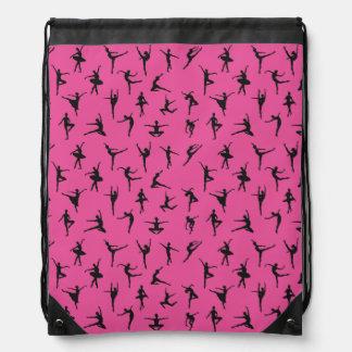 Ballet Silhouettes Cinch Bag