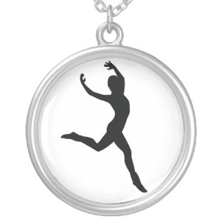 Ballet Silver Plated Necklace