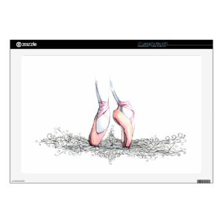 Ballet Slippers Decals For Laptops