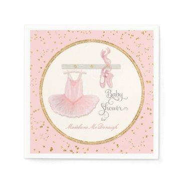 luxuryweddings Ballet Slippers n Tutu Little Girl Baby Shower Paper Napkin