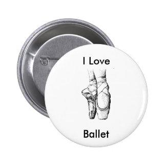 Ballet Slippers Pinback Button