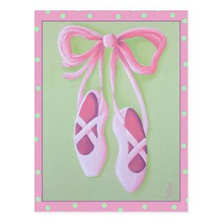 Ballet Slippers Postcard