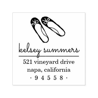 Ballet Slippers Return Address Stamp