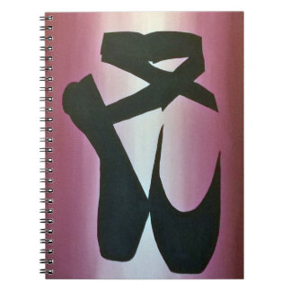 Ballet Slippers Spiral Notebook