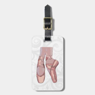 Ballet Slippers Toe Shoes Bag Tag