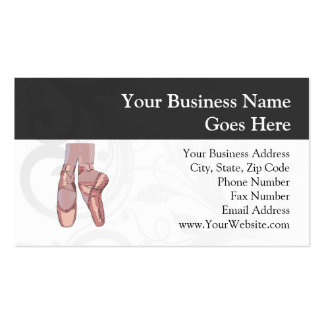 Ballet Slippers Toe Shoes Business Card Template