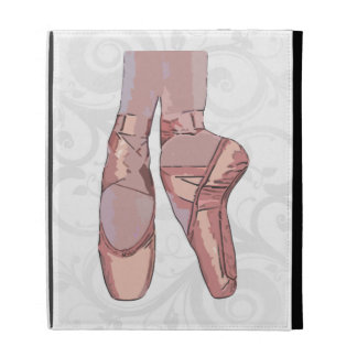 Ballet Slippers Toe Shoes iPad Folio Cover