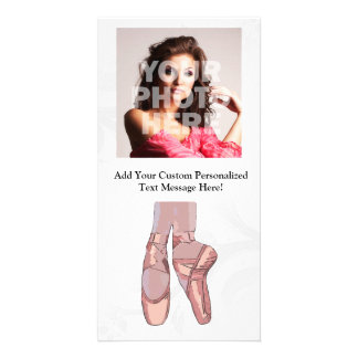 Ballet Slippers Toe Shoes Photo Card