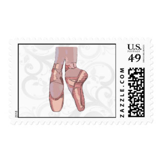 Ballet Slippers Toe Shoes Postage Stamp