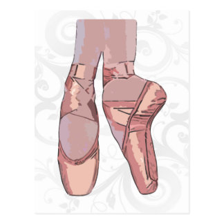 Ballet Slippers Toe Shoes Postcards