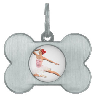 Ballet Stage Bow Pet Name Tag