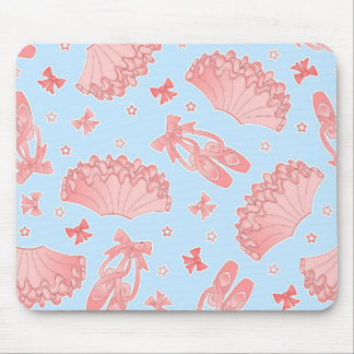 Ballet Star Blue and Pink Pattern Mouse Pad