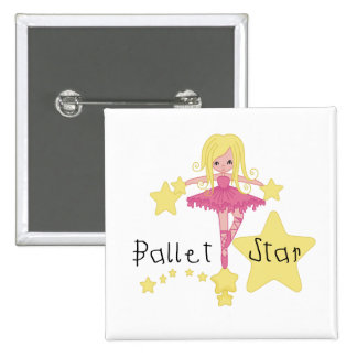 Ballet Star Tshirts and Gifts Pinback Button