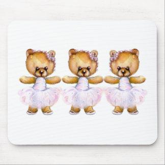 Ballet Step Bears Mousepad