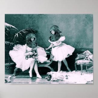 Ballet subacuático impresiones