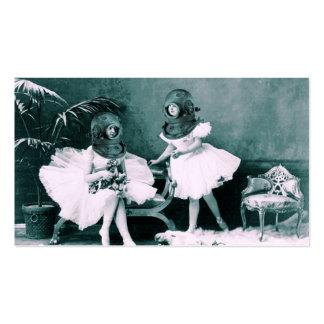 Ballet subacuático tarjetas de visita