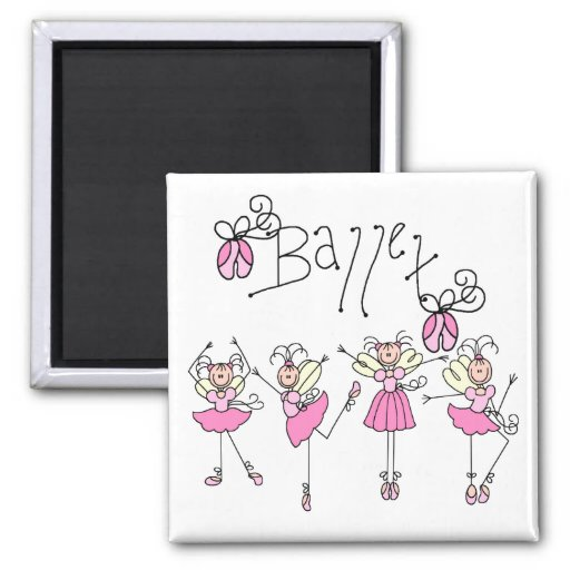 Ballet T-shirts and Gifts 2 Inch Square Magnet
