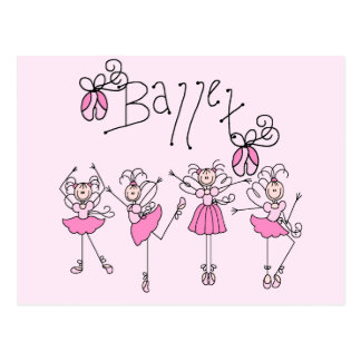 Ballet T-shirts and Gifts Postcard