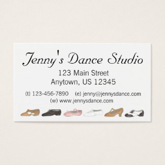 Ballet Tap Jazz Dance Teacher Studio Business Card