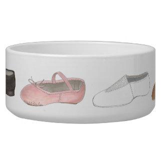 Ballet Tap Jazz Lyrical Dance Shoe Dancer Dog Bowl