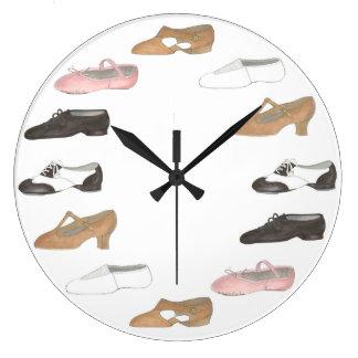 Ballet Tap Jazz Lyrical Shoes Dance Studio Clock