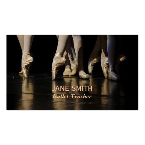 Ballet Teacher Double-Sided Standard Business Cards