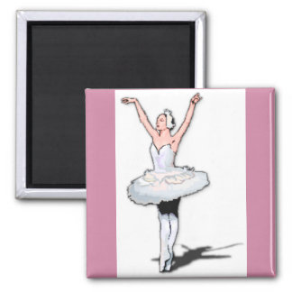 Ballet Theme Pink Ballerina Magnet